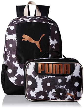 8a394c4b3b Amazon.com: PUMA Big Kid's Lunch Box Backpack Combo, black/gold, OS ...