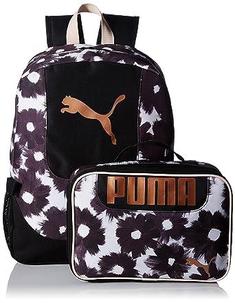d1dd7e8413 Amazon.com: PUMA Big Kid's Lunch Box Backpack Combo, black/gold, OS ...