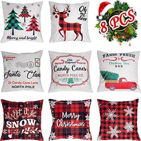 "26+18/"" Pillow Case Cushion Cover Merry Christmas Decor Gifts New Year Ornaments"