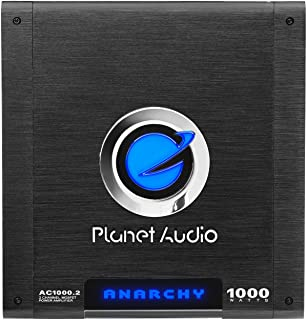 Planet Audio AC2600.2 MOSFET Two-Channel Power Amplifier, 1300 Watts x 2 Max Power
