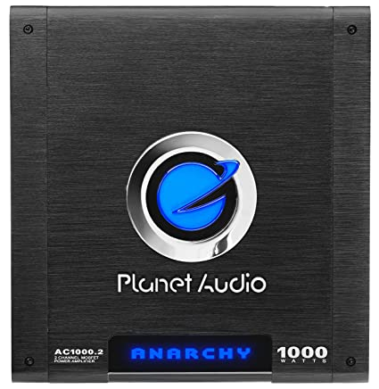 Planet Audio AC1000 2 2 Channel Car Amplifier - 1000 Watts, Full Range,  Class A/B, 2-4 Ohm Stable, Mosfet Power Supply, Bridgeable