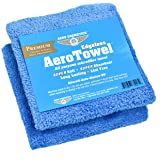 Aero Cosmetics Premium Edgeless Microfiber Towels (2-Pack) Super Soft, Super Absorbent, Long Lasting, Lint Free for waterless car wash and Wet Washing!