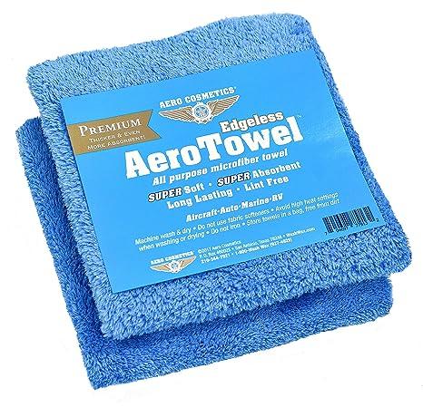 Premium Edgeless toallas de microfibra de (lote de 2) Super suave, Super absorbente