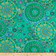 Kaffe Fassett Collective Meadow Millefiore Jade Fabric By The Yard