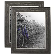 Americanflat 2 Pack - 8x10 Barnwood Rustic Picture Frames with Easels - Made for Wall and Tabletop Display