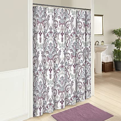 Marble Hill 16251SHWR072MAU Royal Meadow 72 Inch By Shower Curtain Mauve