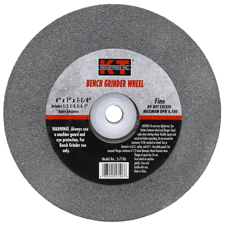 K-T Industries 5-7106 Fine 6' x 1' Bench Grinder Wheel
