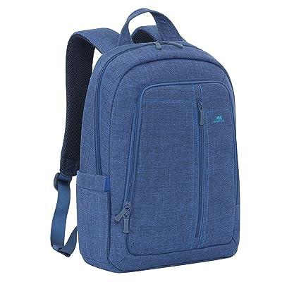 Rivacase 7560 15.6 Inch Laptop Backpack Slim Light Water Resistant Blue Color