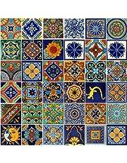 COLOR Y TRADICIÓN Mexican Tiles 4x4 Handpainted Hundred Pieces Assorted Designs