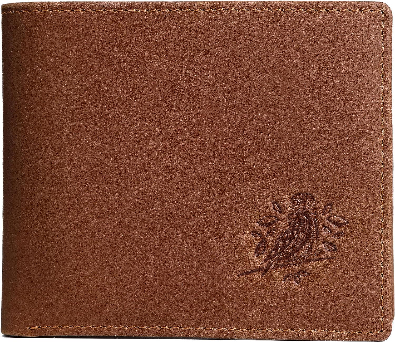 RFID Wallets for Men - Leather rustic design