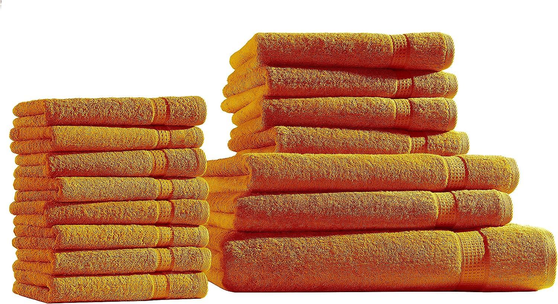 /Serie Elegance in 12/colori e 4/dimensioni mueskaan/® Set di asciugamani in spugna/ Cotone bordeaux 2er 30 x 50 cm