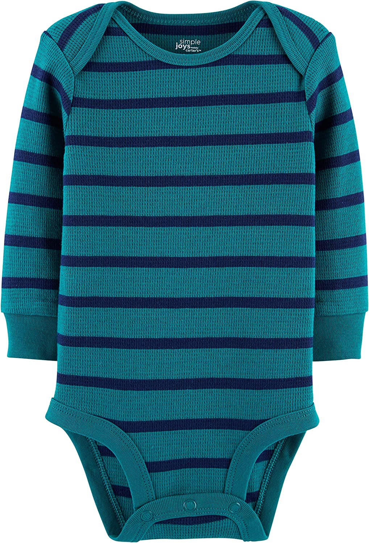 para beb/é ni/ño multicolor Grey Heather//Blue Heather//Stripes 12 Months Simple Joys by Carters Body
