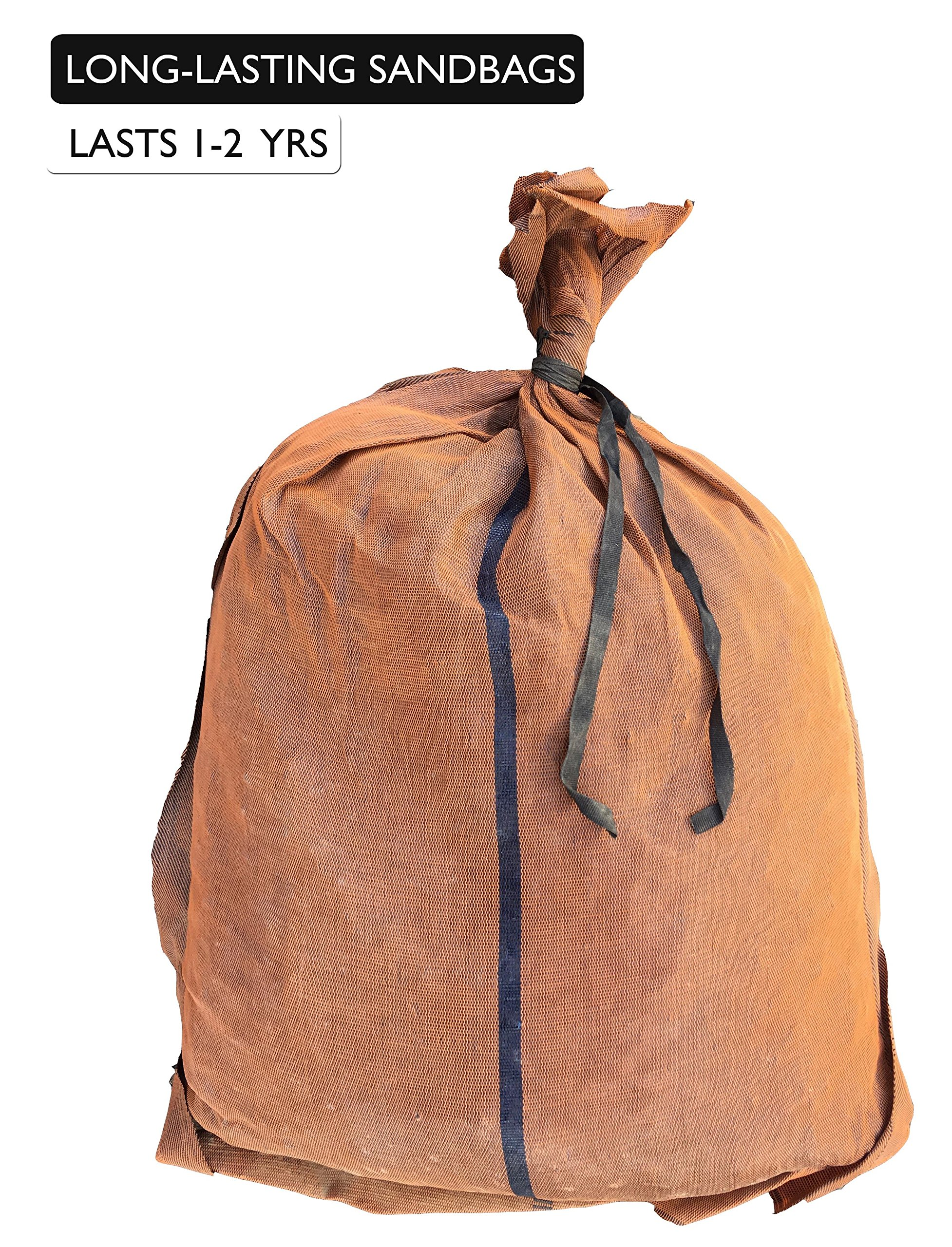 Sandbaggy - 17'' x 27'' Long-Lasting Sandbags - Brown Color - Lasts 1-2 Yrs - Monofilament (Pack of 100) by Sandbaggy (Image #3)