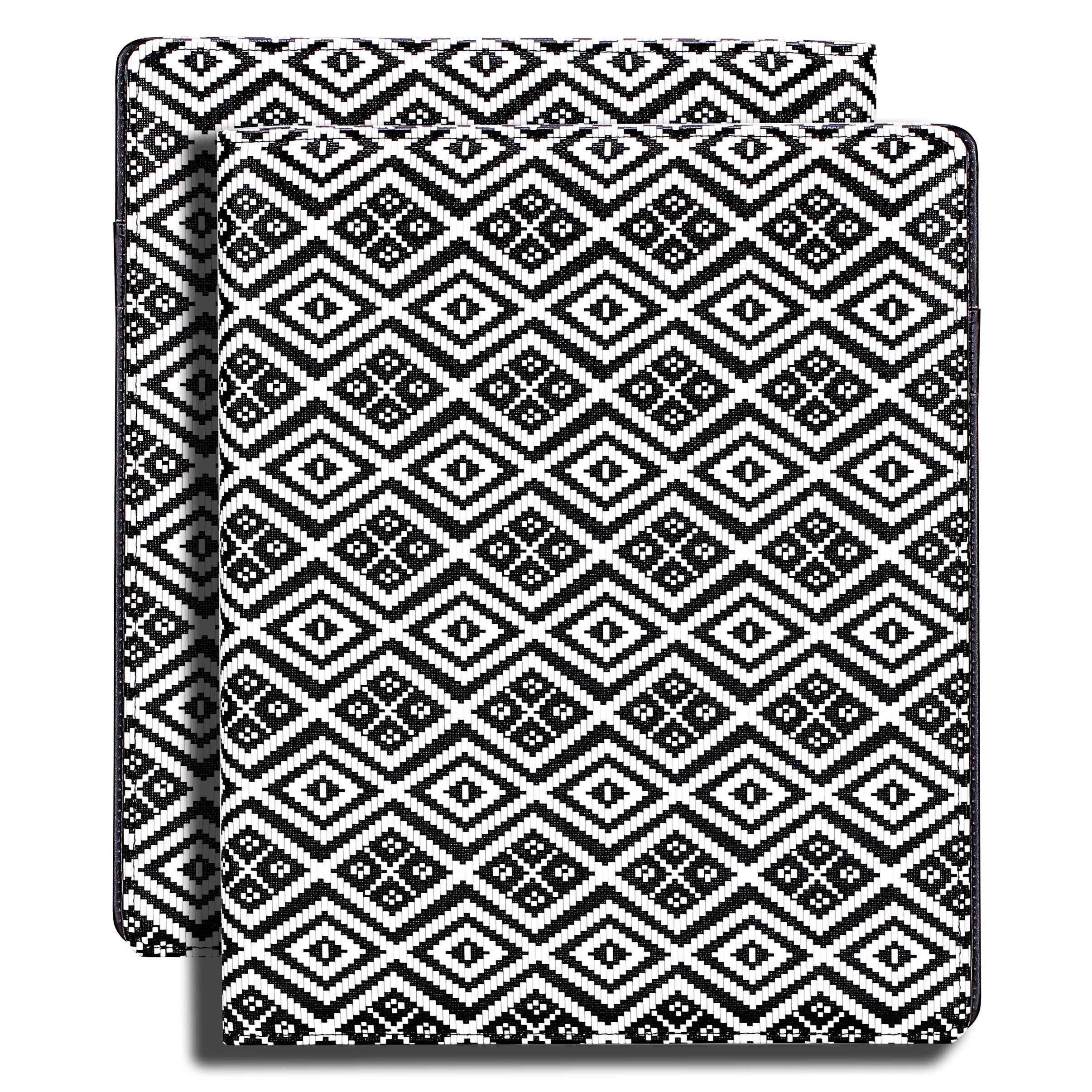 Z PLINRISE Luxury Marble Portfolio File Folder Document Resume Organizer,Padfolio File Holder Folders Letter Size,Standard 3 Ring Binder with Clipboard (Black and White Diamond) by Z PLINRISE (Image #7)