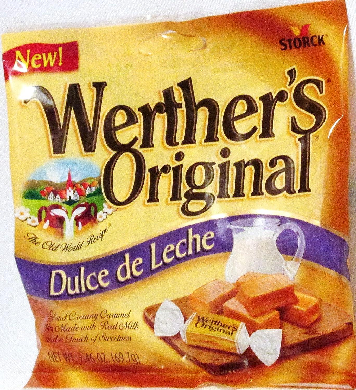 Amazon.com : Werthers Original Dulce De Leche Soft and Creamy Caramel Bites 2.46 Oz (69.7g) Pouch (6 Pack) : Grocery & Gourmet Food