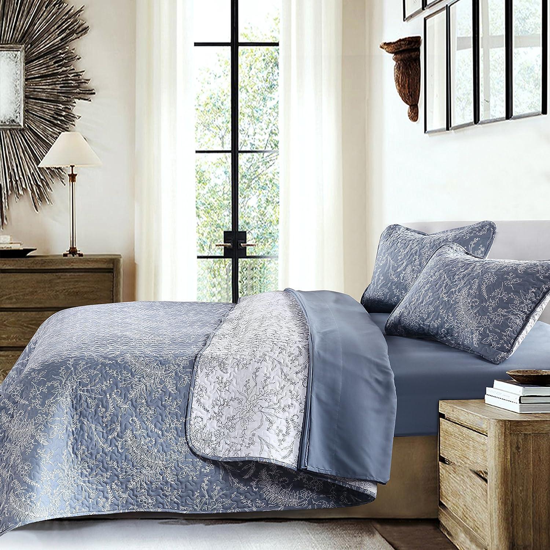 Southshore Fine Linens - Perfect Paisley Collection - Lightweight, Reversable 2-Piece Quilt Set, Coral Haze, Twin/Twin XL MF-QLT-PPSLY-CORL-TW