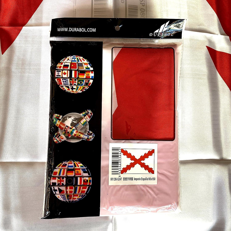 Durabol Bandera DE Borgoña Imperio Español 150 x 90 cm Satén Flag: Amazon.es: Hogar