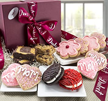 Mother Day Gift Basket Grand Sweet Cookie And Brownie Best Wishes Gift Box Prime Delivery