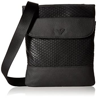 Amazon.com  Armani Jeans Men s Embossed Pu and Canvas Small Shoulder Bag  with Eagle Logo 3b07696a4a1