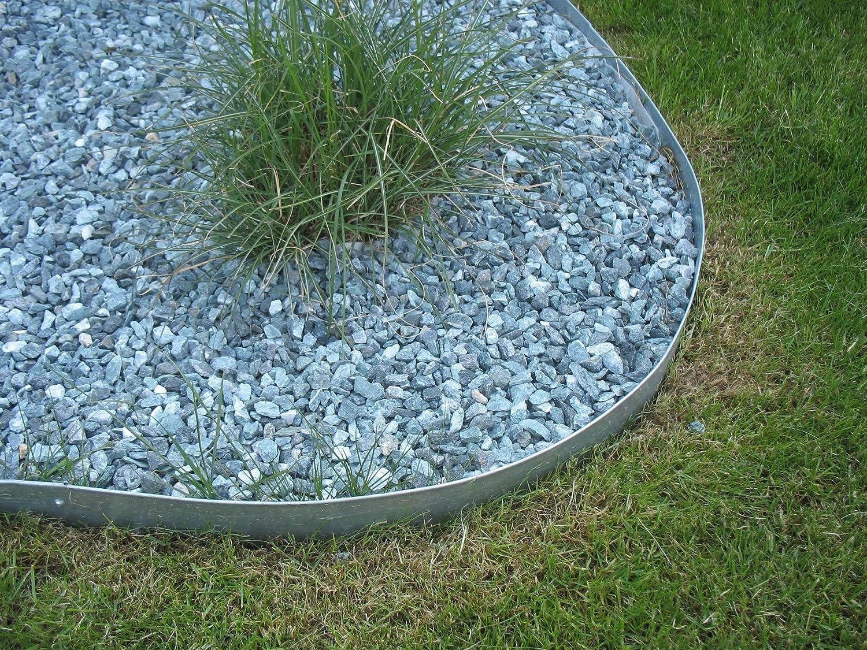 Rasenkanten Beetbegrenzung aus Metall 12er Set 118x17,5 cm