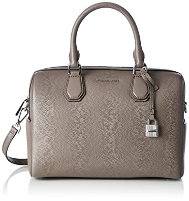 b455911fadd4 Image Unavailable. Image not available for. Color  Michael Kors Mercer  Cinder Medium Leather Duffle Crossbody Bag ...