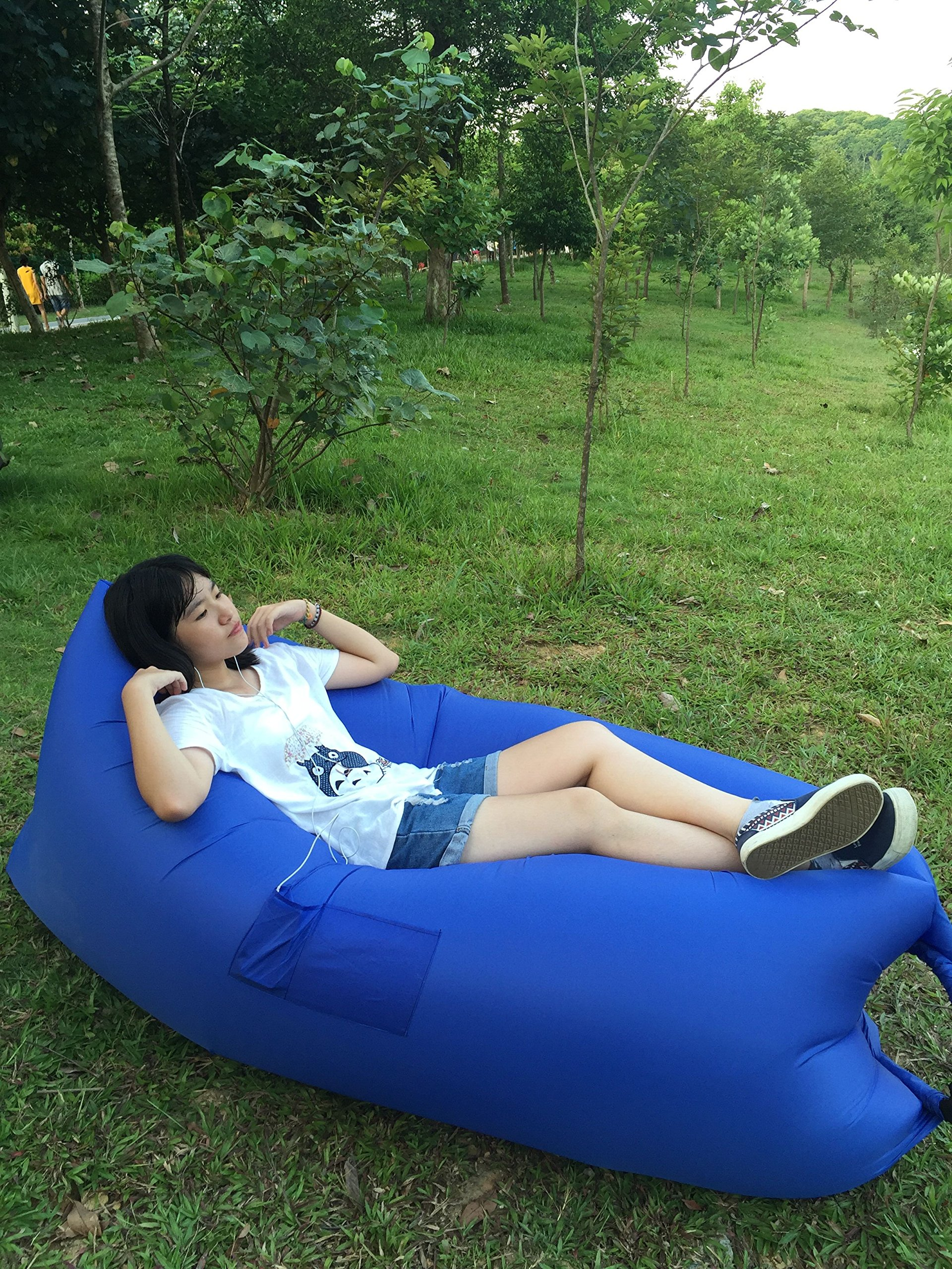 hundred electronic inflatable lounger air sofa outdoor or indoor