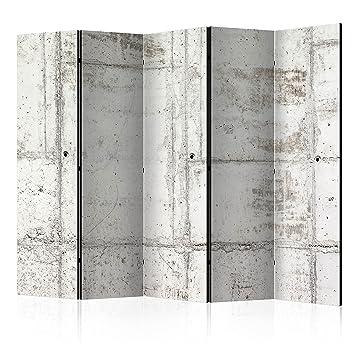 murando Biombo con Tablero de Corcho Concreto Hormigon 225x172 cm - de Impresion Bilateral en el