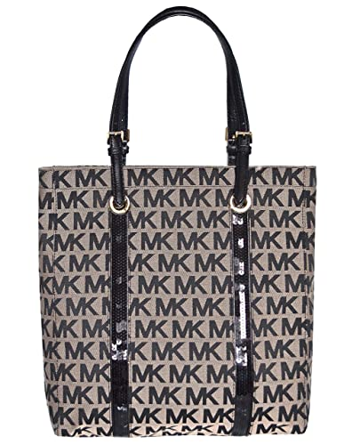 58f1be0b4314 Amazon.com  Michael Kors MK Signature Sequin Stripes NS Tote Shoulder Bag