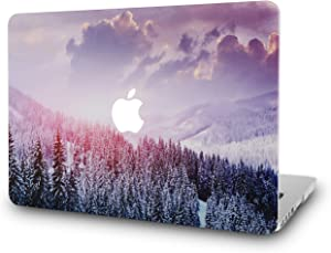 "KECC Laptop Case for MacBook Air 13"" Retina (2020/2019/2018, Touch ID) Plastic Case Hard Shell Cover A2179/A1932 (Snow Mountain 2)"