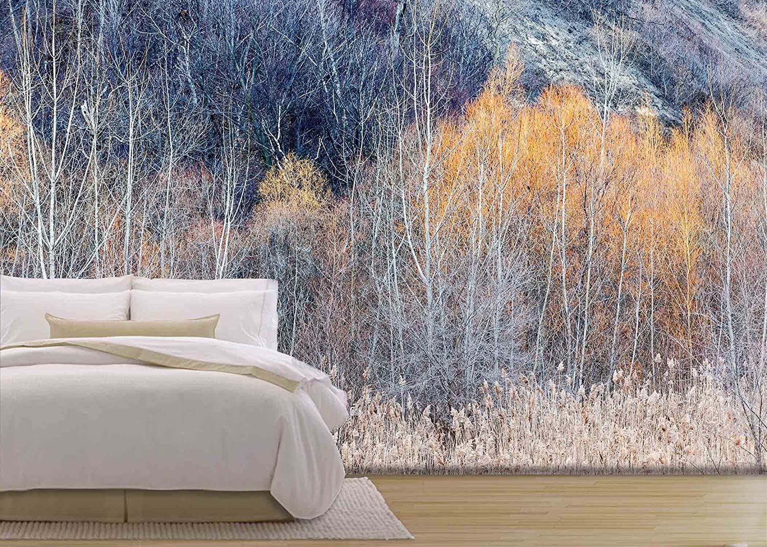 wall26 com art prints framed art canvas prints greeting wall26 background nature landscape of bare trees and grasses in winter ravine removable wall mural self adhesive large wallpaper 66x96 inches