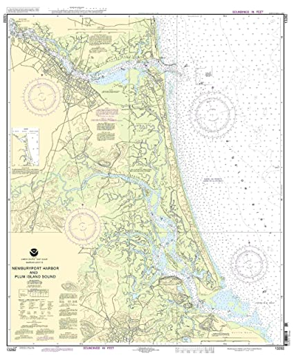 Amazon.com: 13282 -- Newburyport Harbor y la ciruela Isla ...