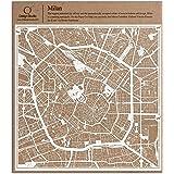 Milano Carta taglio mappa bianco 30x30 centimetri carta arte