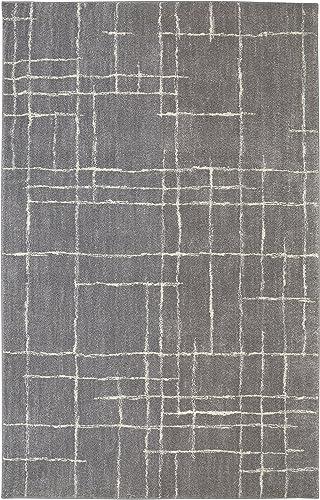 Mohawk Berkshire Chatham Geometric Woven Soft Shag Area Rug, 10 x14 , Grey