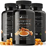 Turmeric Curcumin with Bioperine Black Pepper Extract Supplement with Advanced Absorption Natural Anti-inflammatory Knee Back Joint Support & Pain Relief from Arthritis Gluten free