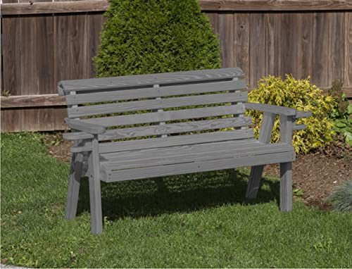 Amish Heavy Duty 800 Lb Roll Back Pressure Treated Garden Bench