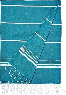 Cacala Toalla de baño turca Paradise Series, algodón, Agua, 95 x 175 x