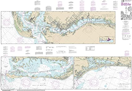 Amazon.com: Nautical Map Poster - Intracoastal Waterway Fort ...