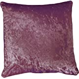 Mauve / Purple / Lilac Plain Crushed Velvet 18 inch Cushion Cover Piped Edges