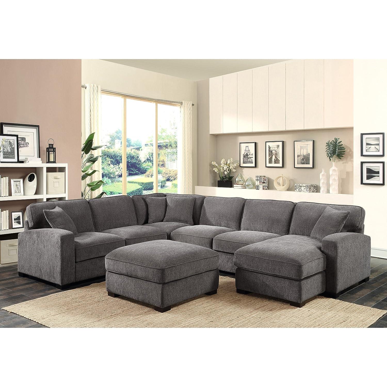 Amazon.com: Esmeralda Home Repose Seccional sofá: Kitchen ...