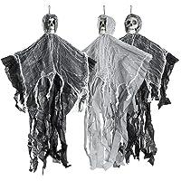 THE TWIDDLERS Halloween 3 hangende griezelige skelet seizoensdecoratie - tot 70 cm ophangen aan het plafond, perfecte…
