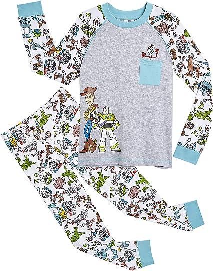 Imagen deDisney Pijamas para Niños De Toy Story 4! | Ropa Suave Y Cómoda para Dormir De Niño Y Niña | Pijamas De Manga Larga Pixar | ¡ con Woody, Buzz Lightyear y Forky!