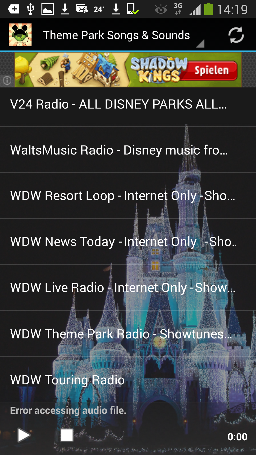 Theme Park Radio Songs & Sounds