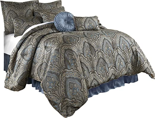 Chezmoi Collection Seville 9-piece Jacquard Paisley Oversized Comforter Set