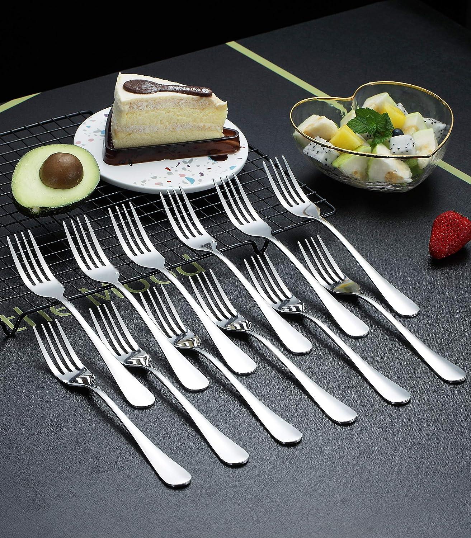 Kyraton 12 St/ück Edelstahl Menuegabel Dessertgabel 21 cm Gabel Set von 12