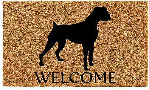Calloway Mills AZ105582436 Boxer Doormat, 24 x 36 , Natural Black