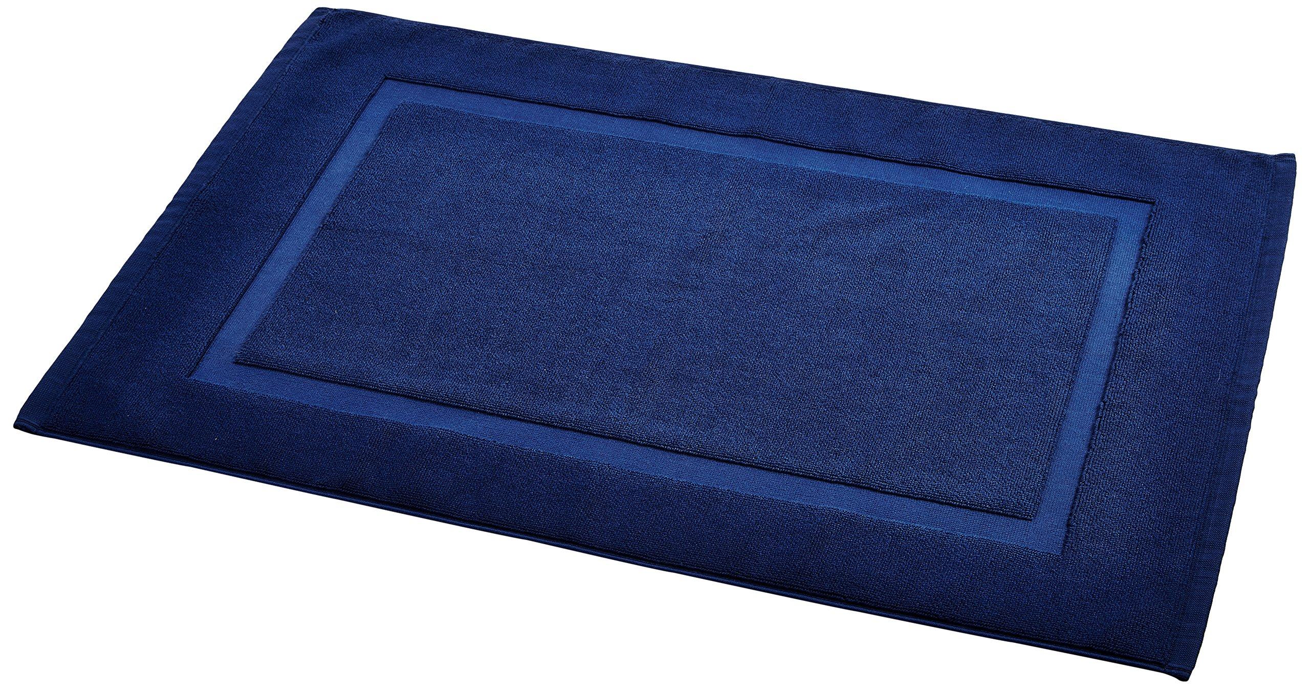 AmazonBasics Banded Bath Mat, Navy Blue by AmazonBasics