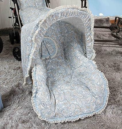 Babyline Caramelo - Colchoneta para silla grupo 0, color azul