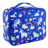 LONE CONE Kids' Insulated Fabric Lunchbox in Fun Patterns, Gary the Unicorn