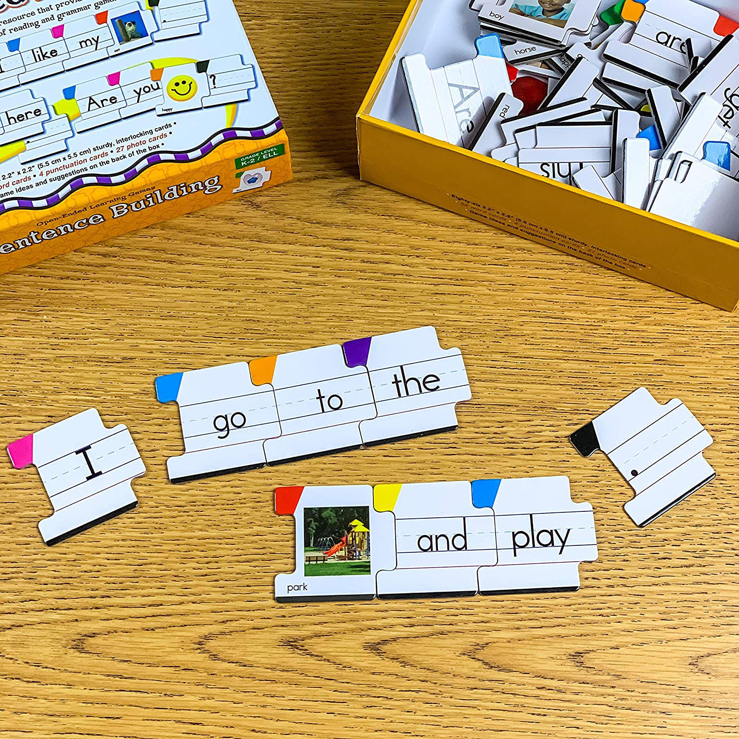 Carson Dellosa – Sentence Building Literacy Resource with 86 Cards manipulative for reading