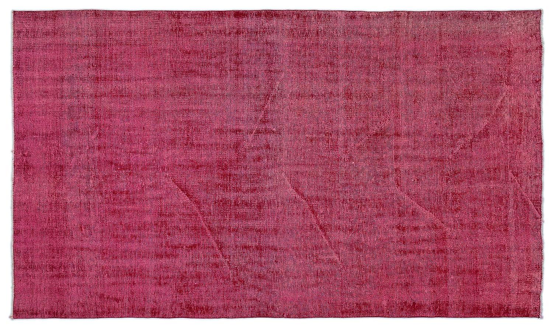 Bespoky ビンテージ 手織 ラグ 赤 ミディアムサイズ 161 X 275 Cm   B07HKZ4HX4